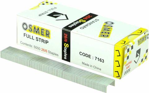 OSMER STAPLES 26/6 BX5000 FULL STRIP