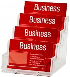 4 TIER BUSINESS CARD HOLDER DEFLECTO (4BC93)