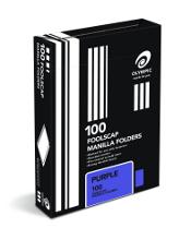 OLYMPIC MANILLA FOLDER F/C PURPLE BOX 100