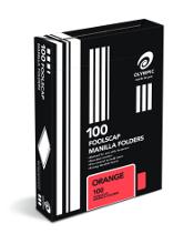 OLYMPIC MANILLA FOLDER F/C ORANGE BOX 100