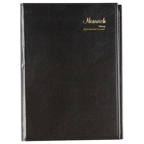 CUMBERLAND NORWICH A5 2 DAYS TO PAGE 2020 DIARY BLACK SPIRAL BOUND