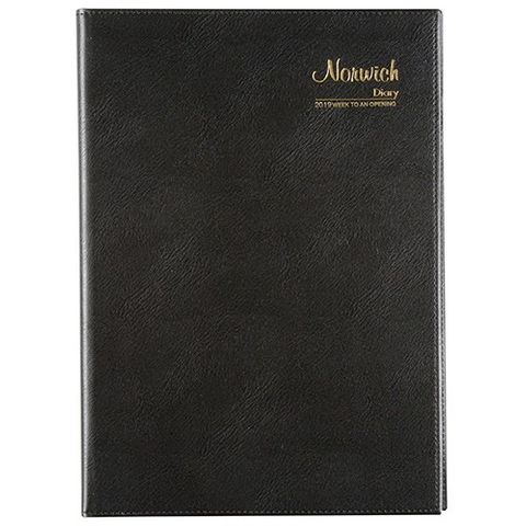 CUMBERLAND NORWICH A4 WTO 2020 DIARY BLACK SPIRAL BOUND