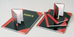 BLACK & RED A6 INDEXED 100 LEAF NOTE BOOK