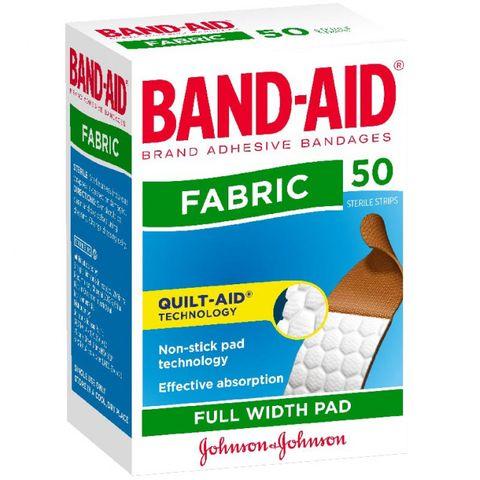 BAND AID FABRIC 50 STRIPS JOHNSON & JOHNSON