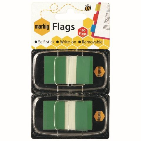 MARBIG FLAGS - POP UP 25X44MM 2 X 50 TRANSPARENT GREEN-cqs15 - 9312311175041