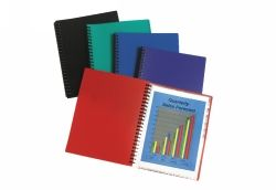 DISPLAY BOOK 40 POCKET ASSORTED COLOURS REFILLABLE MARBIG