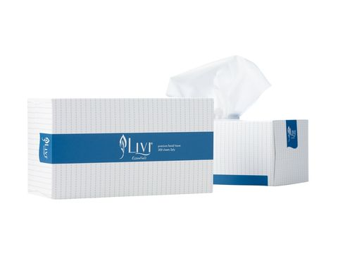 LIVI FACIAL TISSUES BX200 1302
