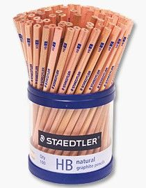 STAEDTLER NATURAL HB PENCILS - CUP 100