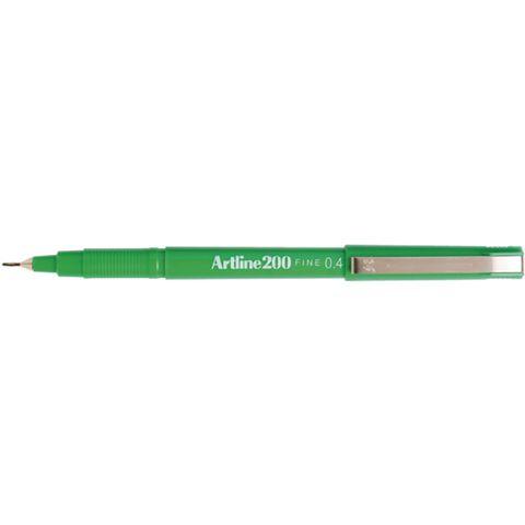 ARTLINE 200 GREEN FINELINER PEN 0.4MM