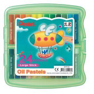 PENTEL OIL PASTELS PK24 HARDENED CASE