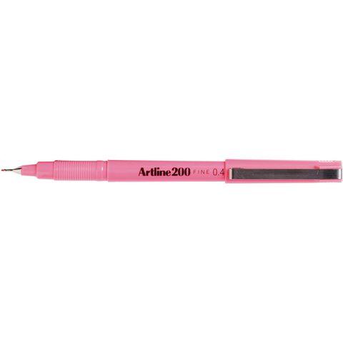 ARTLINE 200 PINK FINELINER PEN 0.4MM
