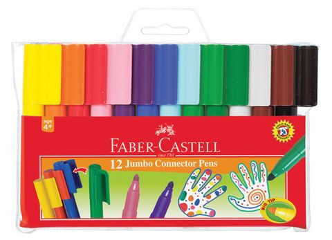 FABER CASTELL JUMBO CONNECTOR PENS WALLET OF 12