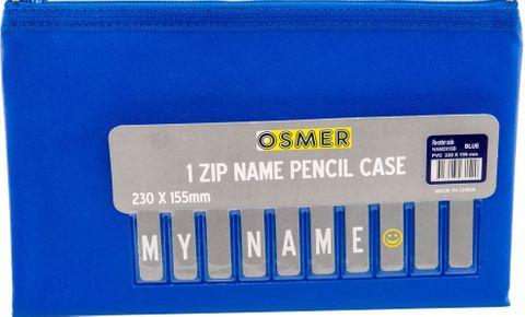 PVC PENCIL CASE - BLUE 23CM X 15CM
