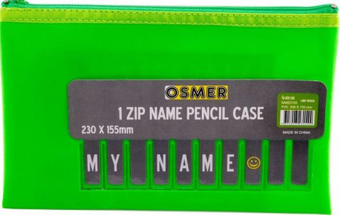 PVC PENCIL CASE - GREEN 23CM X 15CM