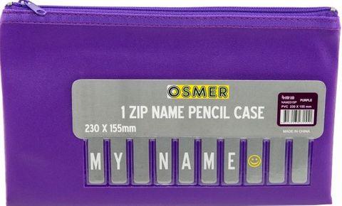 PVC PENCIL CASE - PURPLE 23CM X 15CM