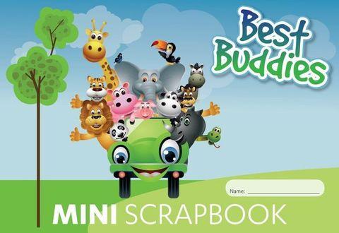 SCRAP BOOK 165X245MM (A5) 64PG BEST BUDDIES MINI