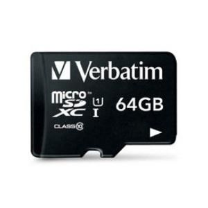 VERBATIM MICRO SD CARD 64GB