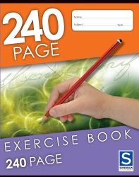 EXERCISE BOOK 240PG 225X175MM SOVEREIGN 8MM