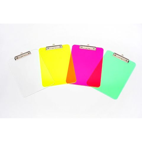 MARBIG CLIPBOARD SOLID PLASTIC A4 ASSORTED - 9312311431000
