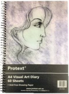 PROTEXT A4 VISUAL ART DIARY CLEAR FRONT COVER