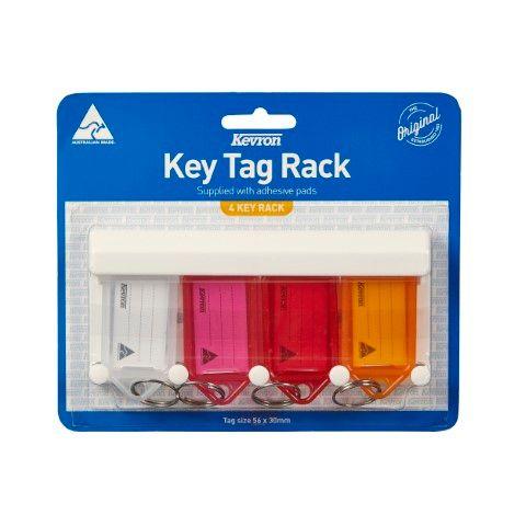 KEVRON KEY TAGS RACKS 4 TAG ASSORTED -CQS19 - 9314221000420