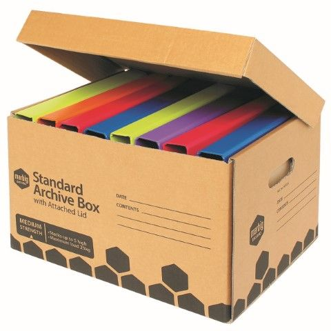 MARBIG ARCHIVE BOX ATTACHED LID ENVIRO -CQS9 - 9312311150628