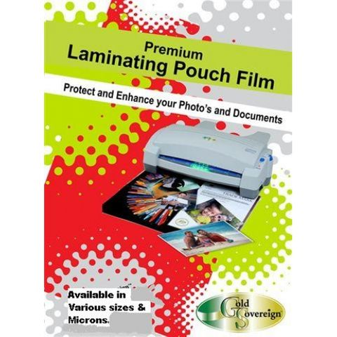 GOLD SOVEREIGN A4 125MIC LAMINATING POUCH 