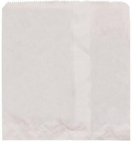 1 WHITE FLAT BAG PK100