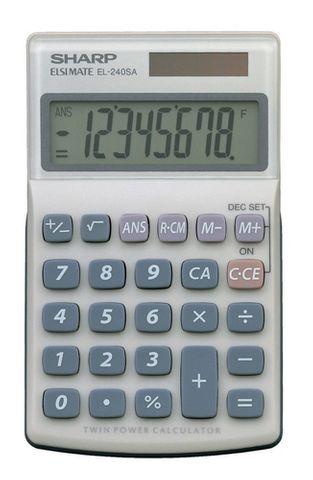 EL240SAB SHARP CALCULATOR 8 DIGIT POCKET