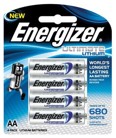ENERGIZER AA LITHIUM BATTERIS PK4