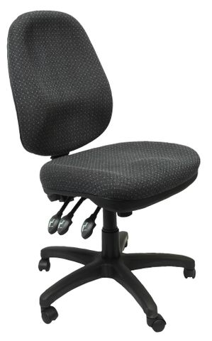 PO500 HD COMMERCIAL GRADE OPERATOR CHAIR - 150 KG WEIGHT RATING - CHARCOAL