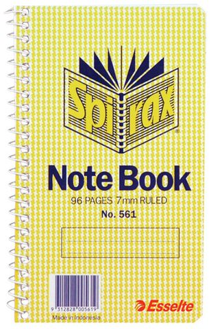 SPIRAX 561 NOTEBOOK  96PG SIDE OPENING - 9312828005619