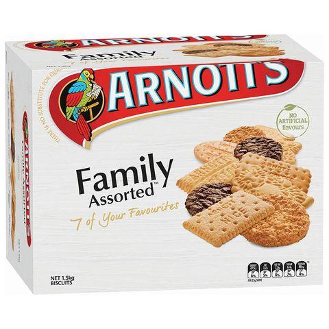 ARNOTTS ASSORTED FAMILY ASSORTED 1.5KG CS
