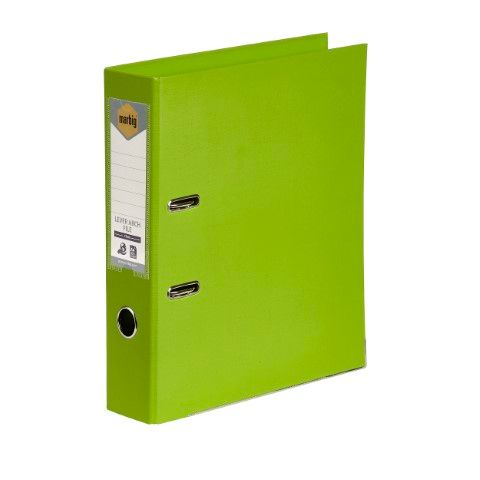 LEVER ARCH FILE PE A4 LIME    MARBIG