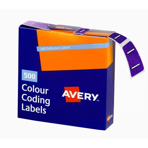 AVERY COLOUR CODING LABEL LETTER I BX500