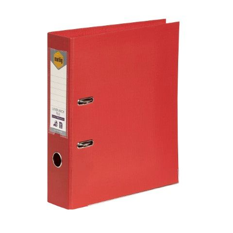 LEVER ARCH FILE PE A4 BRIGHT RED MARBIG-CQS15 - 9312311205793