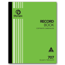 OLYMPIC 707 RECORD BOOK TRIPPLICATE 250 X 200MM
