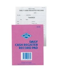 ZIONS DAILY CASH REGISTER RECORD PAD