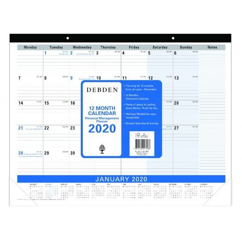 DESK PAD PLANNER 3901C59 MONTH TO VIEW