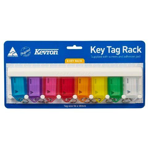 KEVRON KEY TAGS RACKS 8 TAG ASSORTED -CQS19 - 9314221000376