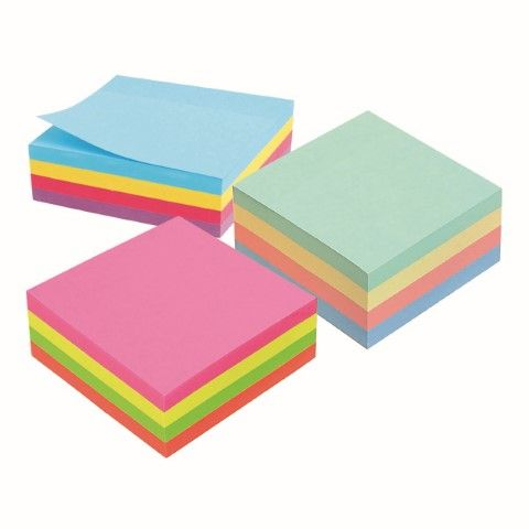 MARBIG RAINBOW NOTE CUBE 75X75MM 320SHT -cqs15 - 9312311260365