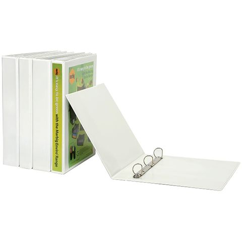 MARBIG CLEARVIEW INSERT BINDER A4 25MM 4D WHITE *DISCONTINUED - STOCK AVAILABLE*  -
