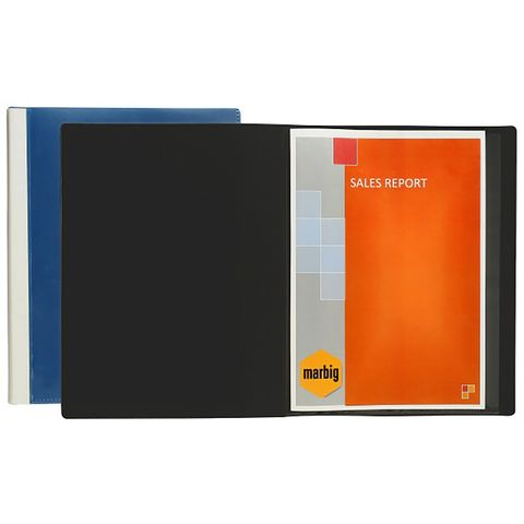 MARBIG CLEARVIEW DISPLAY BOOK A4 24PG BLACK - 9312311205526
