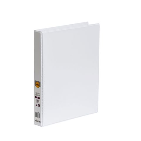 A4 2D RING 25MM WH MARBIG CLEARVIEW INSERT BINDER -CQS9