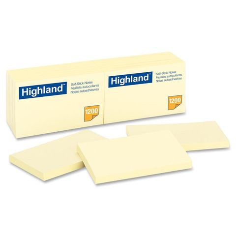 HIGHLAND STICK ON NOTE 76X123