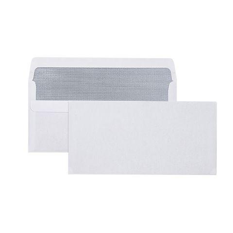 DL PLAIN S/SEAL SECRETIVE ENVELOPE 110X220MM BOX 500