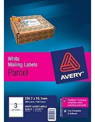 AVERY LASER / INKJET LABEL 3UP L7155 BX100