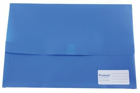 DOCUMENT WALL BLUE F/C VELCRO CLOSURE PP
