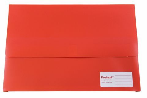 DOCUMENT WALL RED F/C VELCRO CLOSURE PP