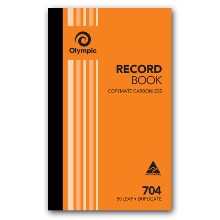 OLYMPIC 704 DUP RECORD BOOK  200X125MM  50L